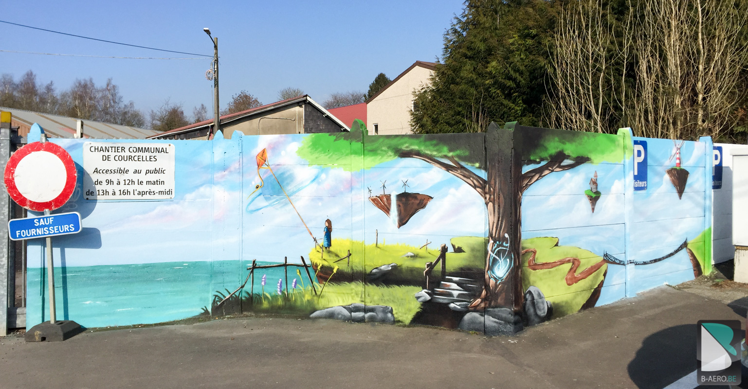Batiments Communales – Courcelles | B-AERO - Graffiti artiste Pro ...
