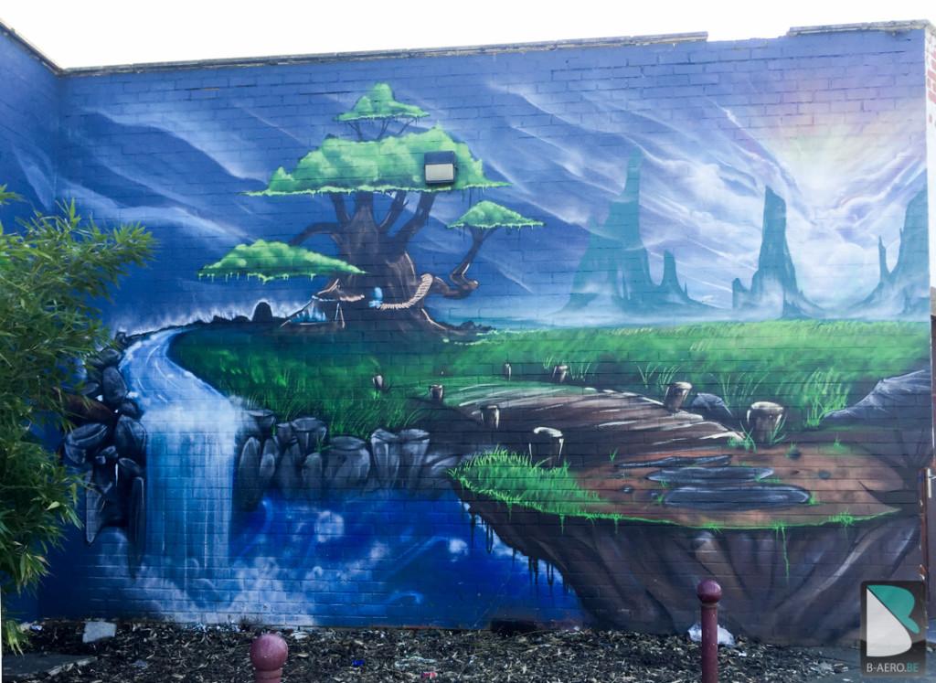 Graffeur-Belgique-Courcelles-paysage