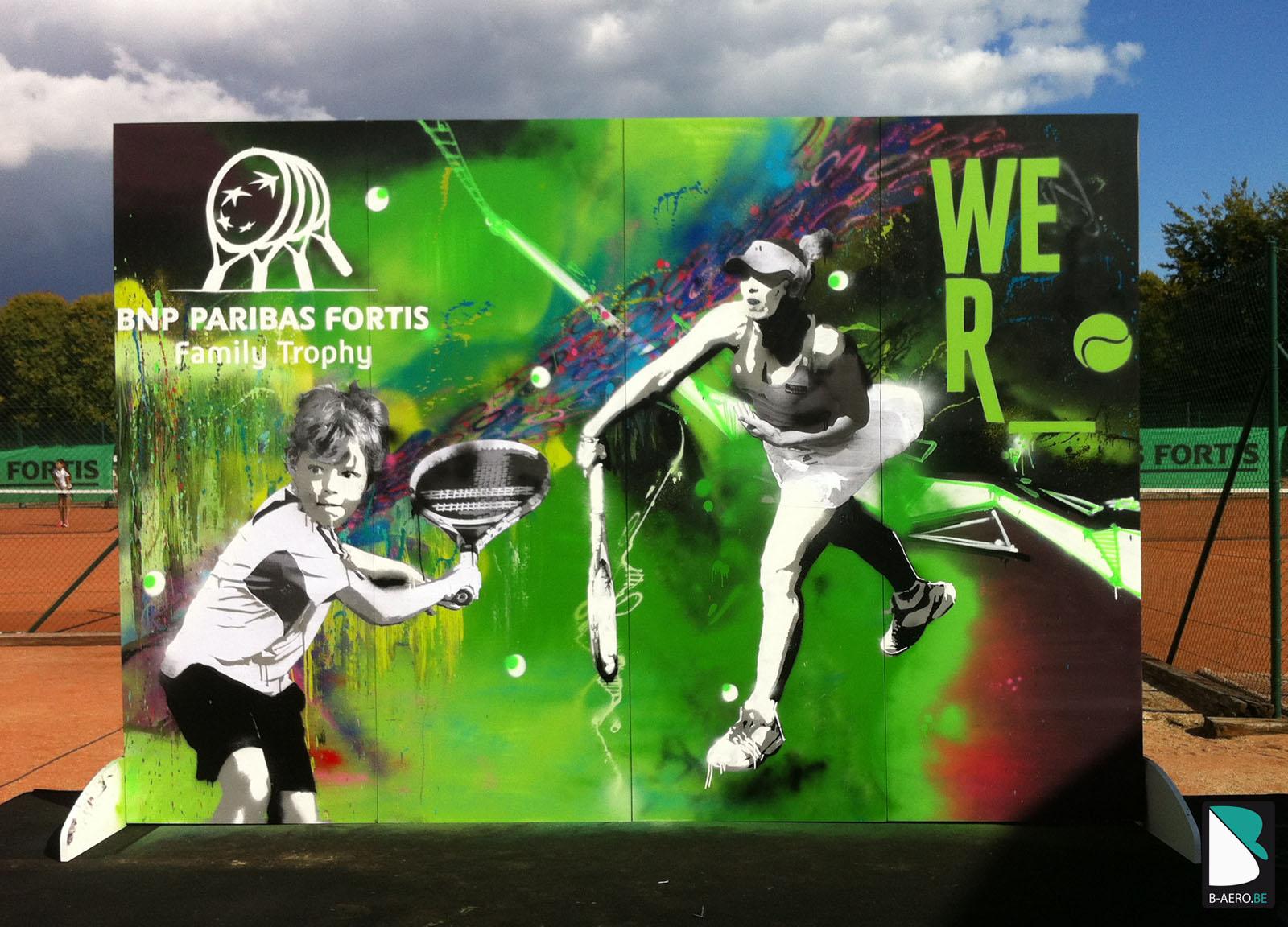 Live Painting Tennis BNP  B AERO  Graffiti artiste Pro