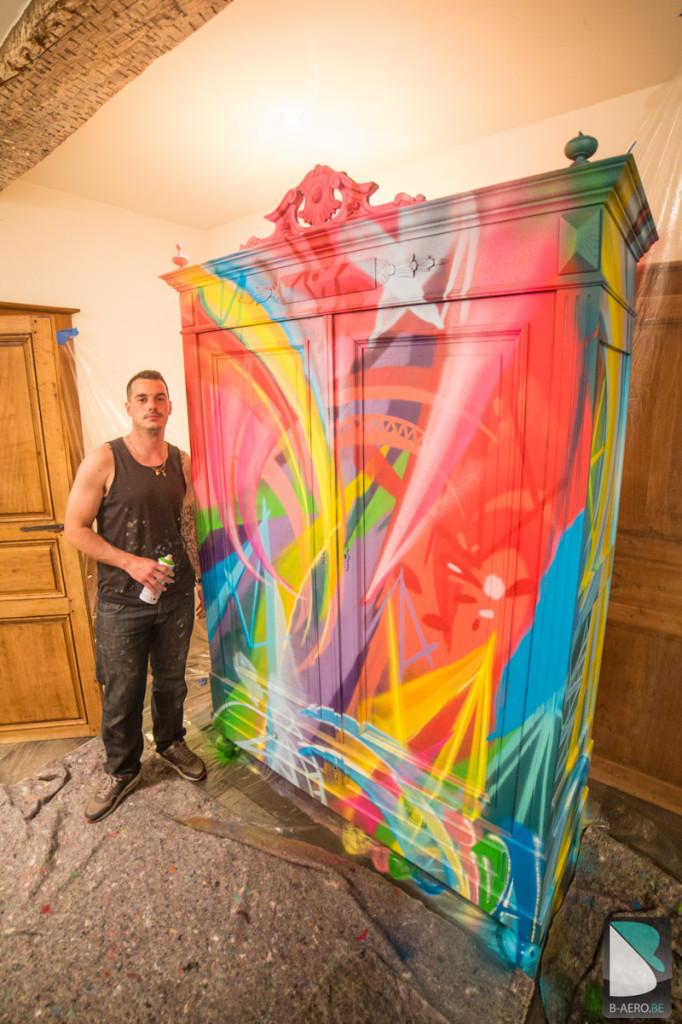 Original Meuble Graffiti sur mesure multicolor-2