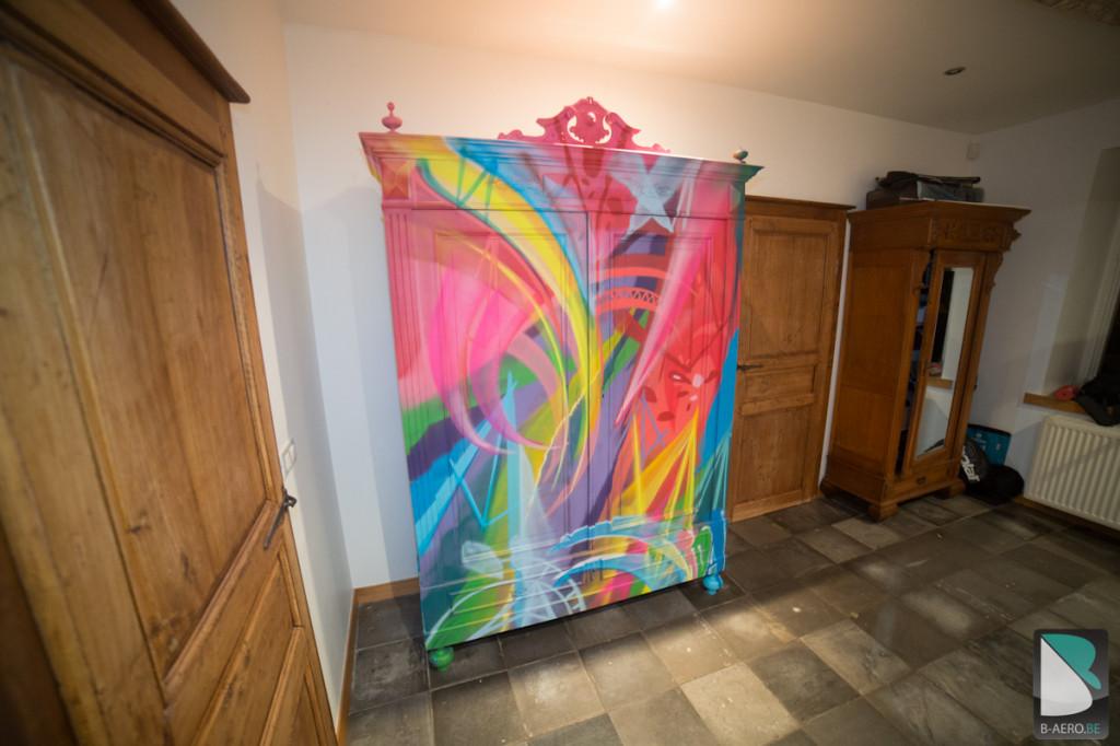 Original Meuble Graffiti sur mesure multicolor-3